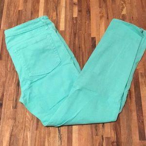 Mint cropped jeans